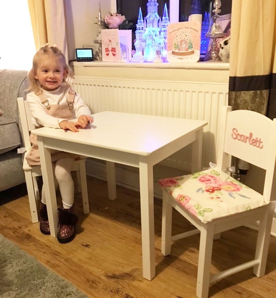 Image of Girls Table & Personalised Chairs