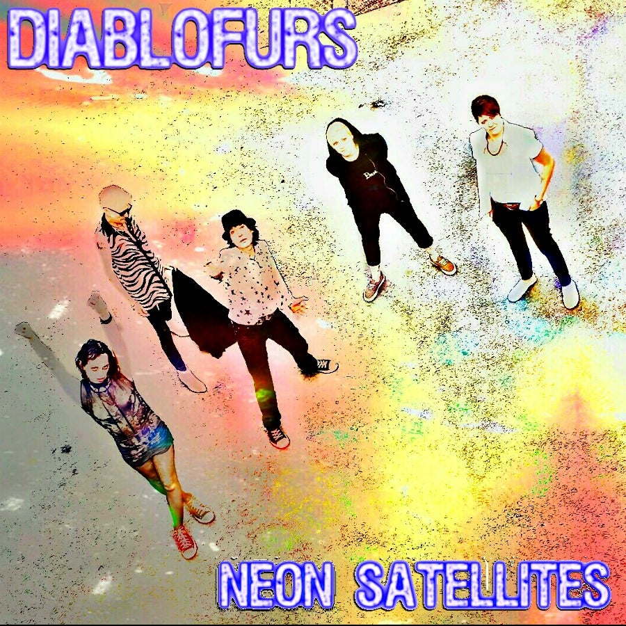 Image of DIABLOFURS NEON SATELLITES LP AND CD SET NEON  YELLOW VINYL