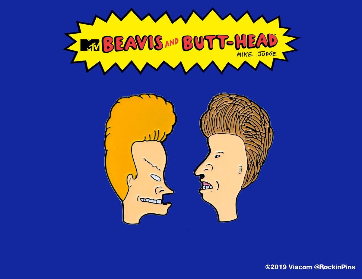 Image of Beavis and Butt-Head - Head Set Enamel Pins