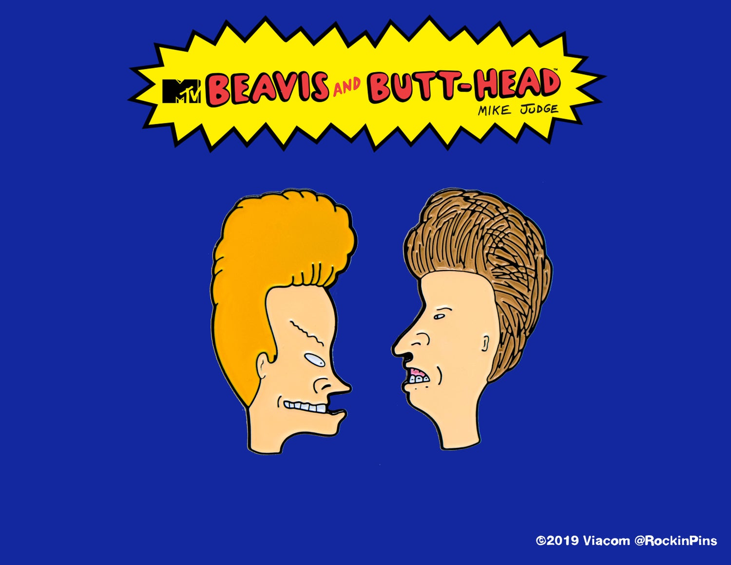 Image of Beavis and Butt-Head - Head Set Enamel Pins