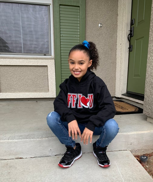 Image of FF I❤️U Blk/Red/White Youth Hoodie