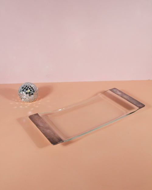 Image of Dorothy Thorpe Glass + Silver Tray