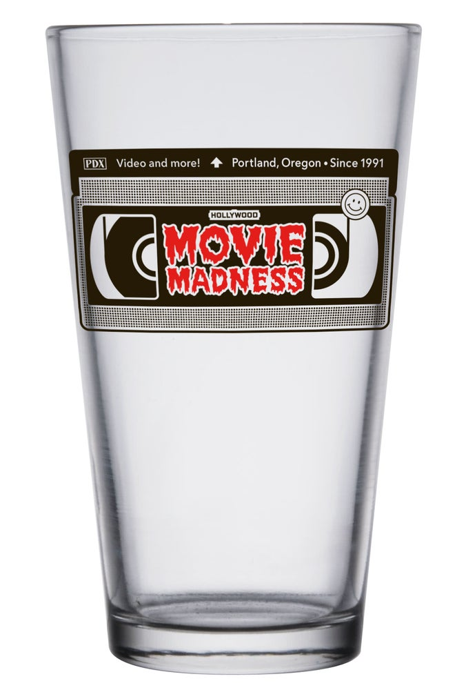 Image of Movie Madness VHS Pint Glass