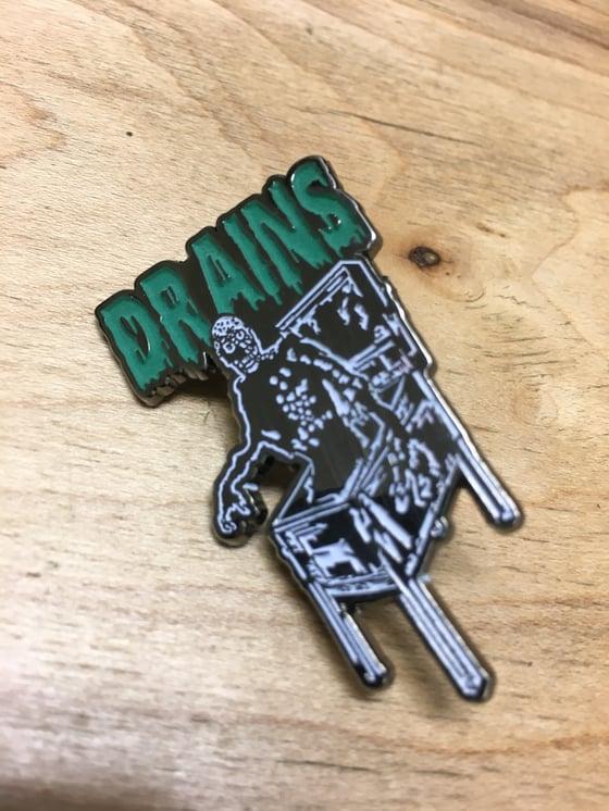 Image of Drains Enamel Pin Version II (Glow In The Dark)