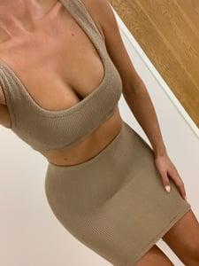 Image of Nude Mini Crop Co-Ord