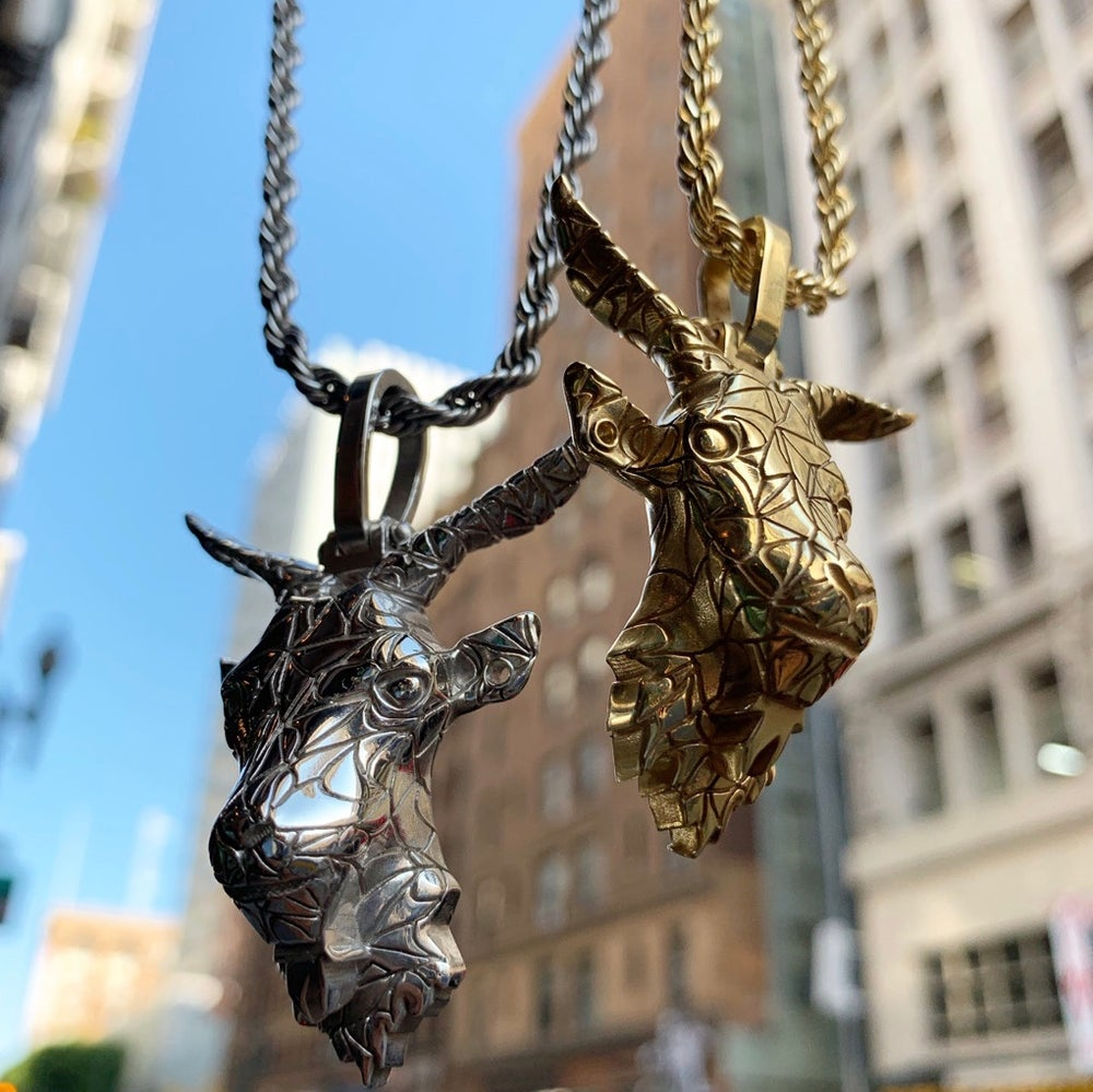 Image of goat charm & chain