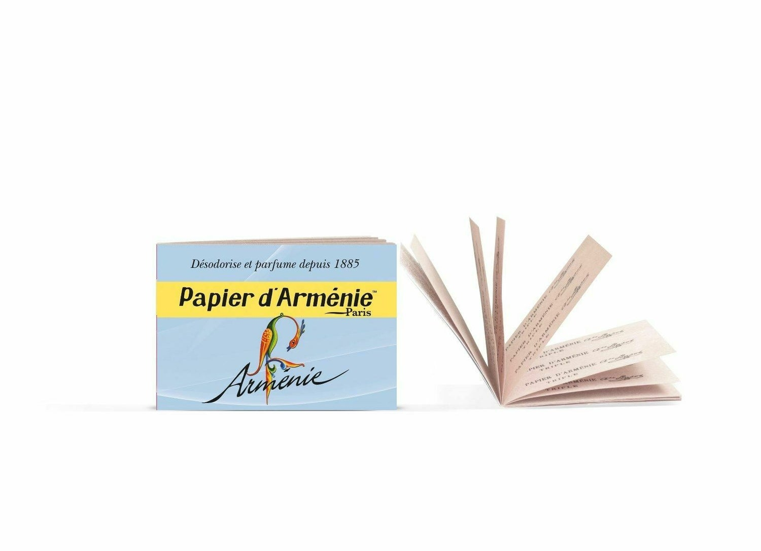 Image of NEW Papier d'Armenie Insent papers 1 booklet 36 leaflets imported from Paris
