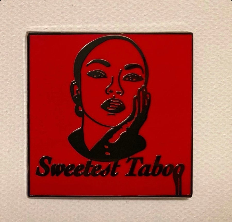Image of Sweetest Taboo - RED Lapel Pin