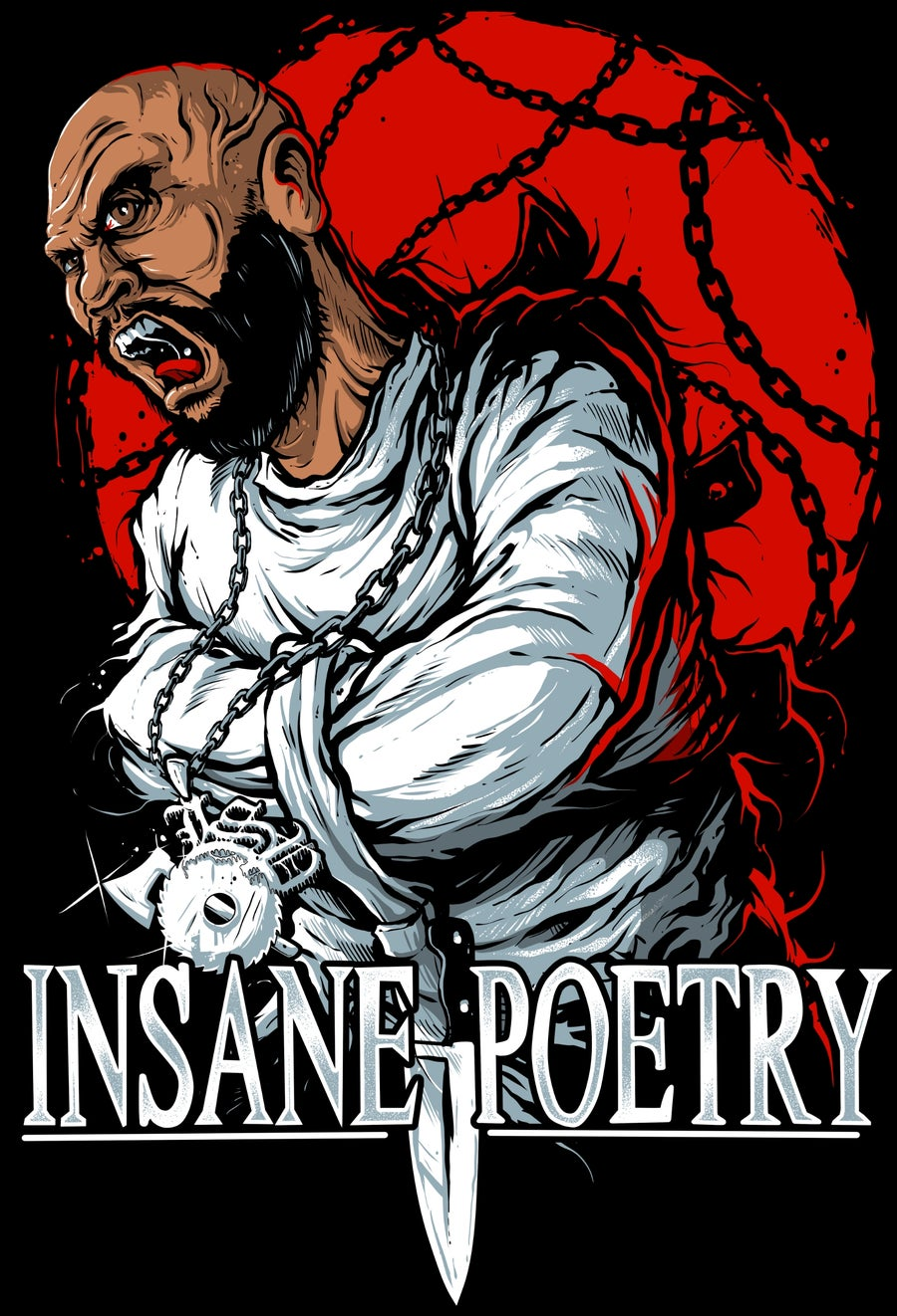 Image of INSANE POETRY:  AM I DERANGED?  reg shirt