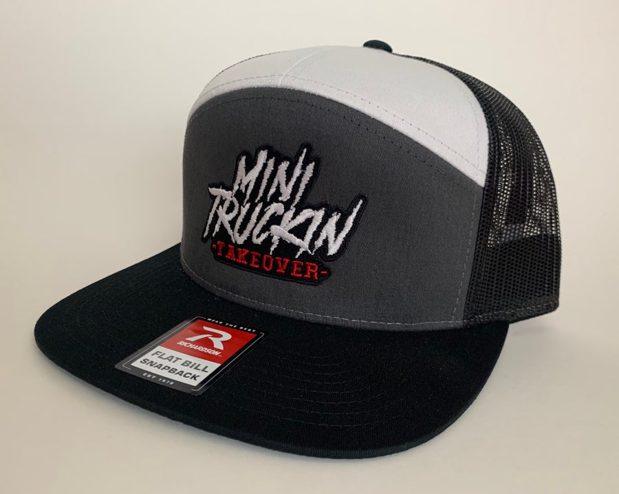 Image of Grey/Black/White 7 Panel Trucker