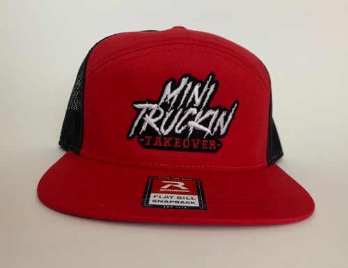Image of Red/Black 7 Panel Trucker