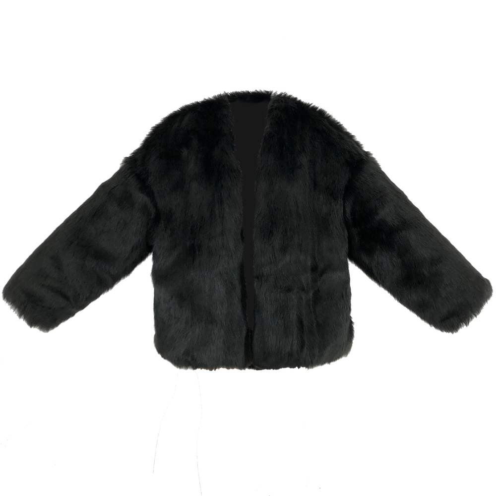 Image of BLACK BLAST FUR JACKET