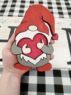 Image of January's Gnome of the Month - Valentine's Day Gnome