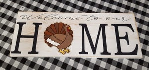 Image of Interchangeable HOME Sign - Classic Style