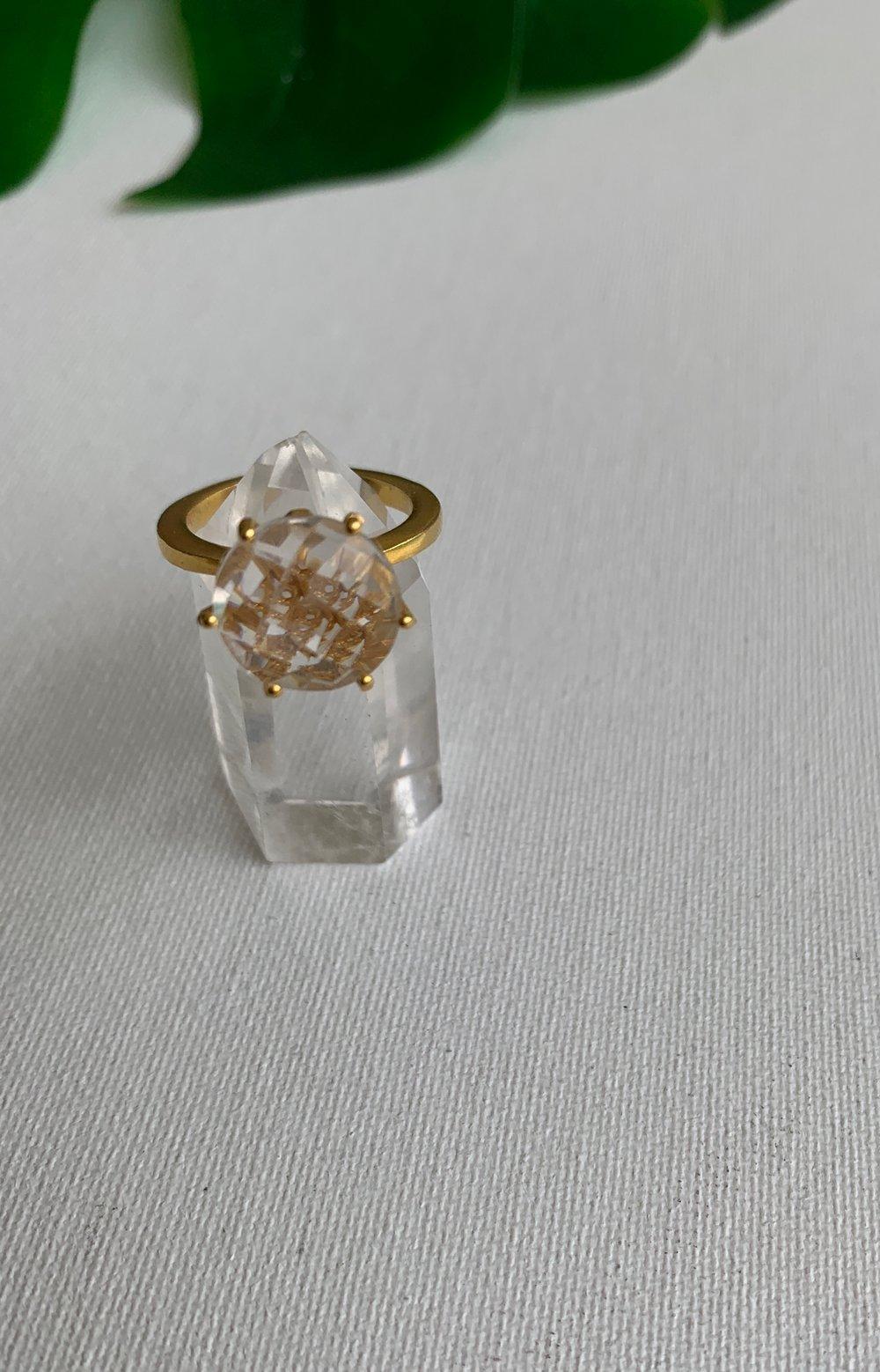 Image of BLAZ • Clear Quartz Ring