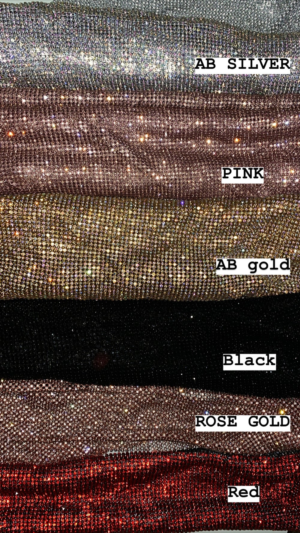 Image of AB GOLD CRYSTAL MESH HALTER TOP