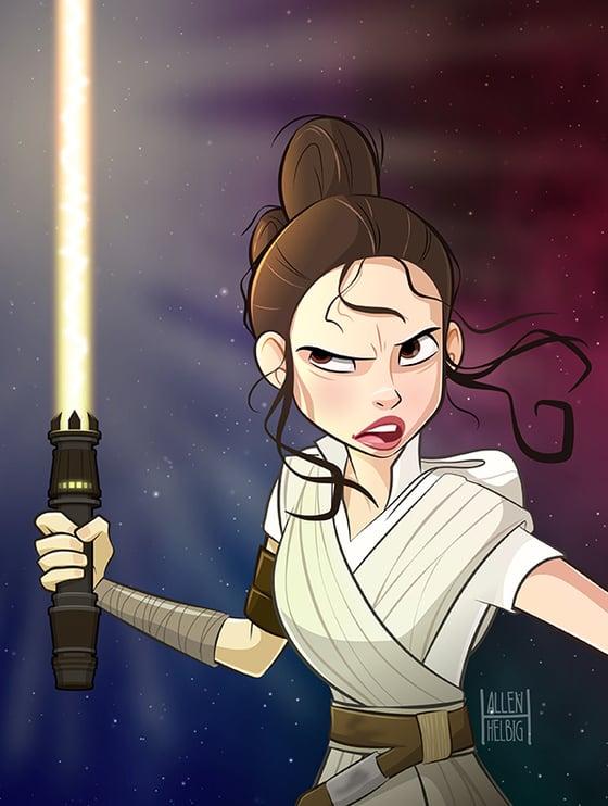 Image of Rey Skywalker print
