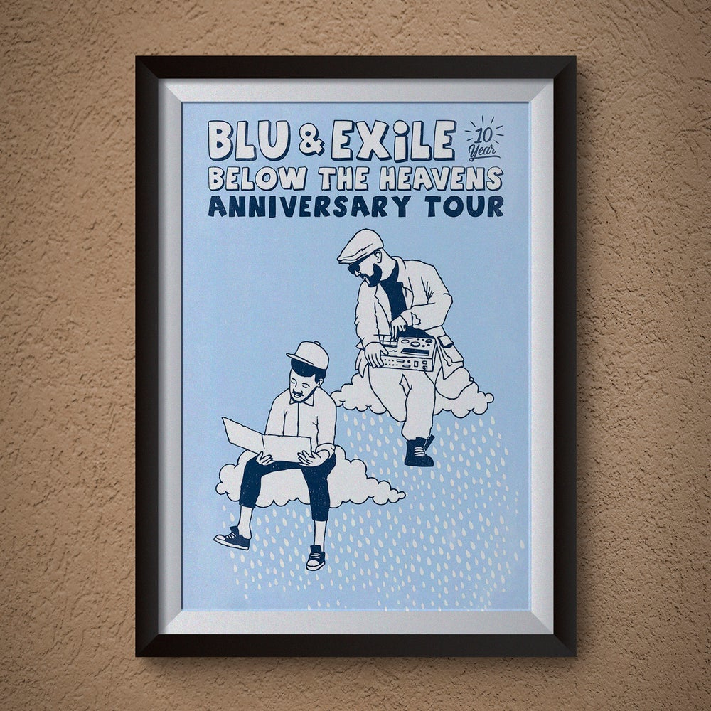 "Image of Blu & Exile ""Below The Heavens"" Poster"
