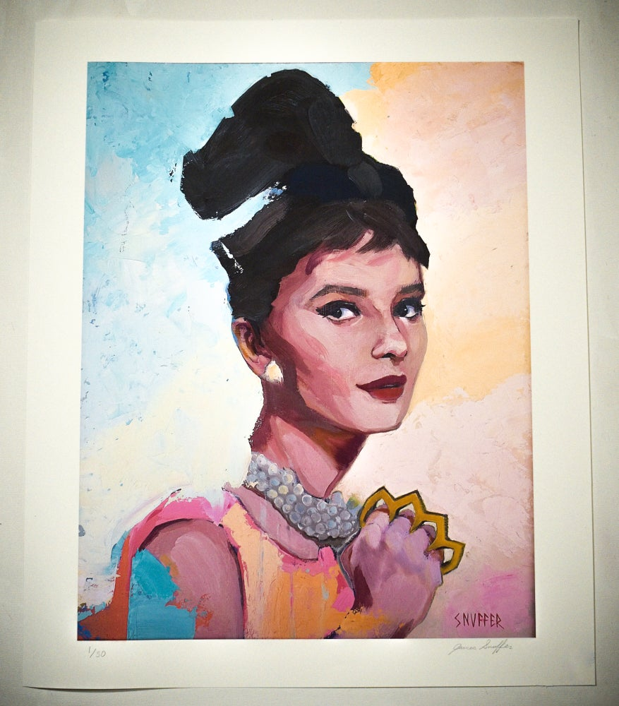 "Image of New! Original Painting ""Badass Audrey"" Limited Run Print"