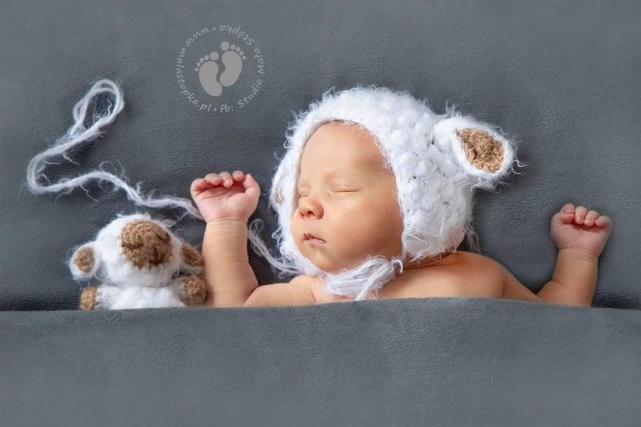 Image of Fluffy set lamb. Newborn size
