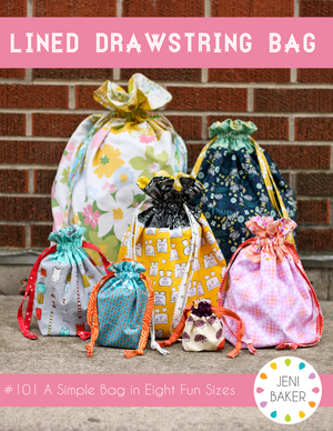Image of Lined Drawstring Bag PDF Pattern Bundle