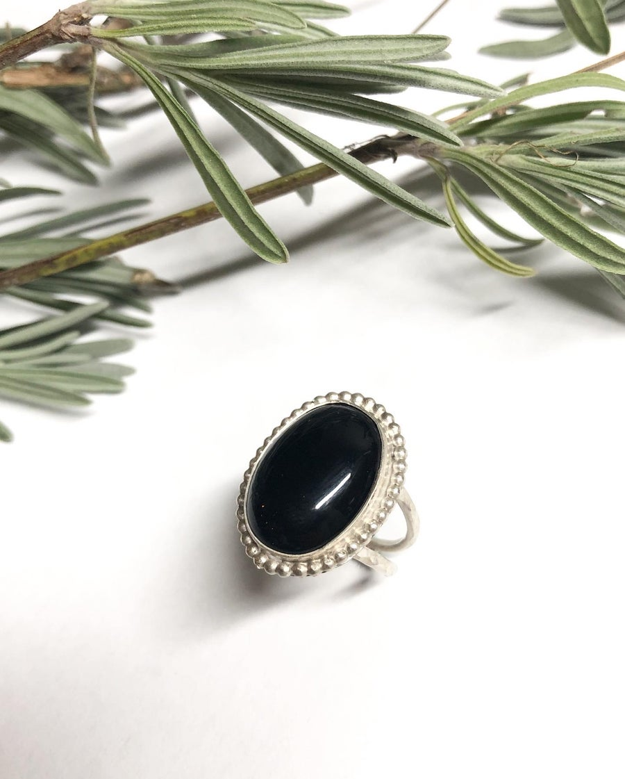 Image of Black Onyx Statement Ring