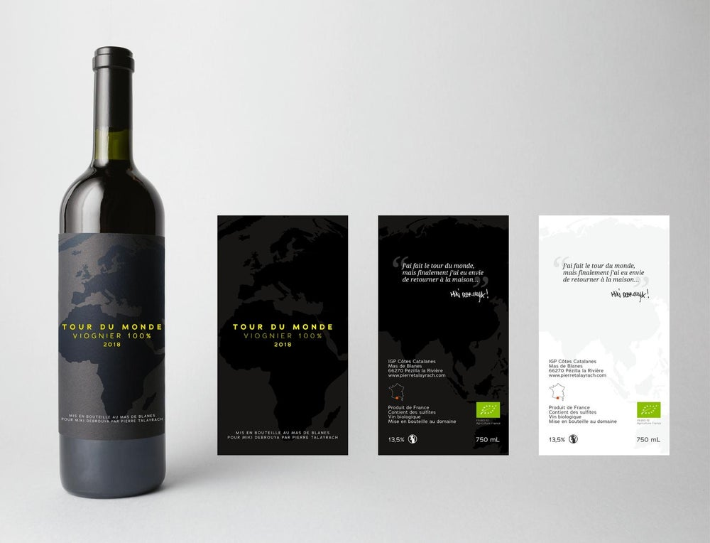 "Image of Cuvée ""Tour du monde "" 100 % Viogner by Miki Debrouya X Pierre Talayrach"
