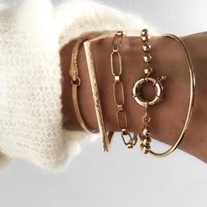 Image of Bracelet TOURMENT Plaqué or