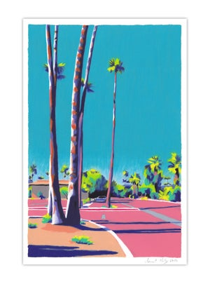 Image of Palm Springs Parking Lot (giclee print, A4)