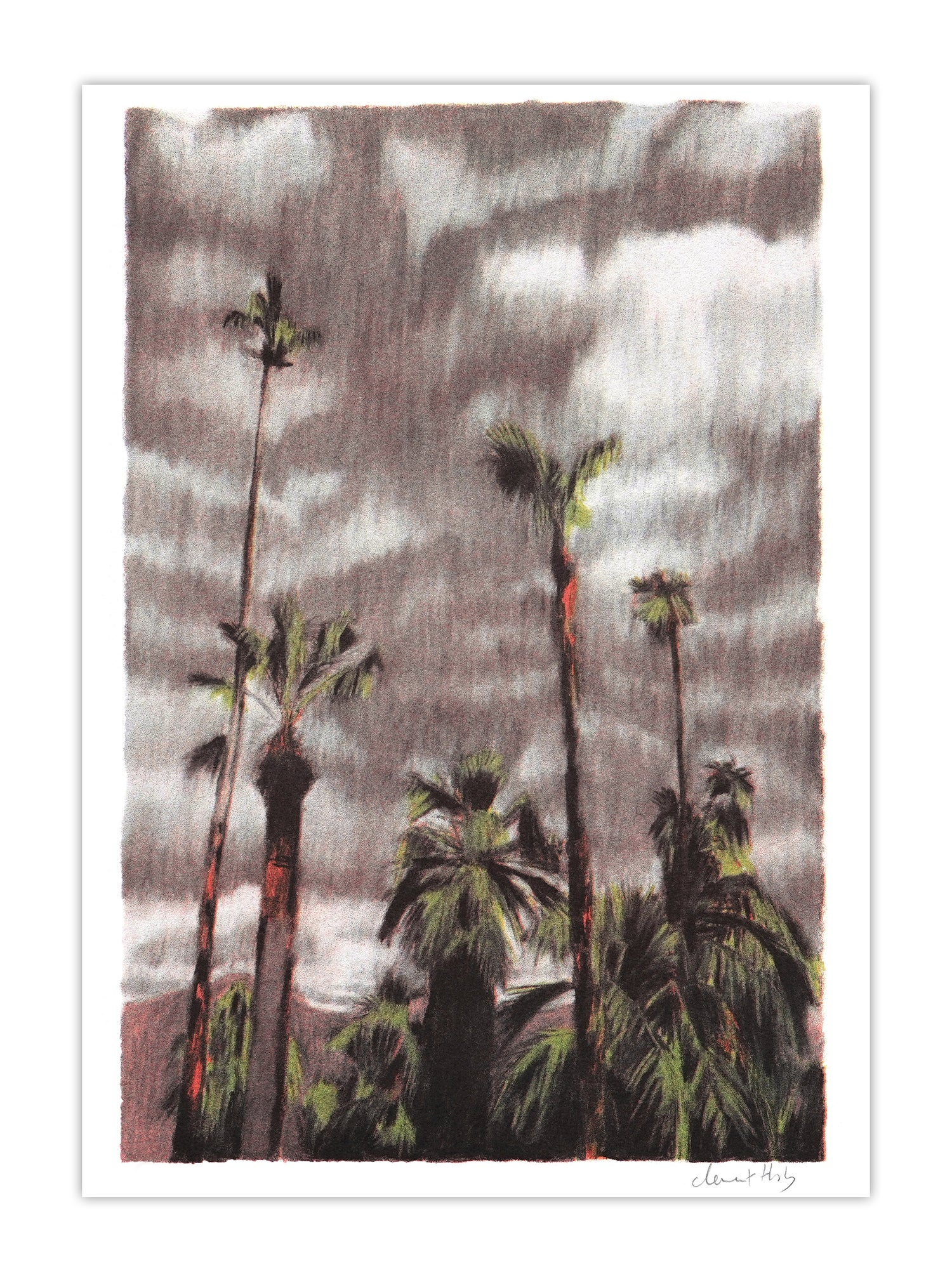 Image of Palm Springs Storm (risograph, A4)