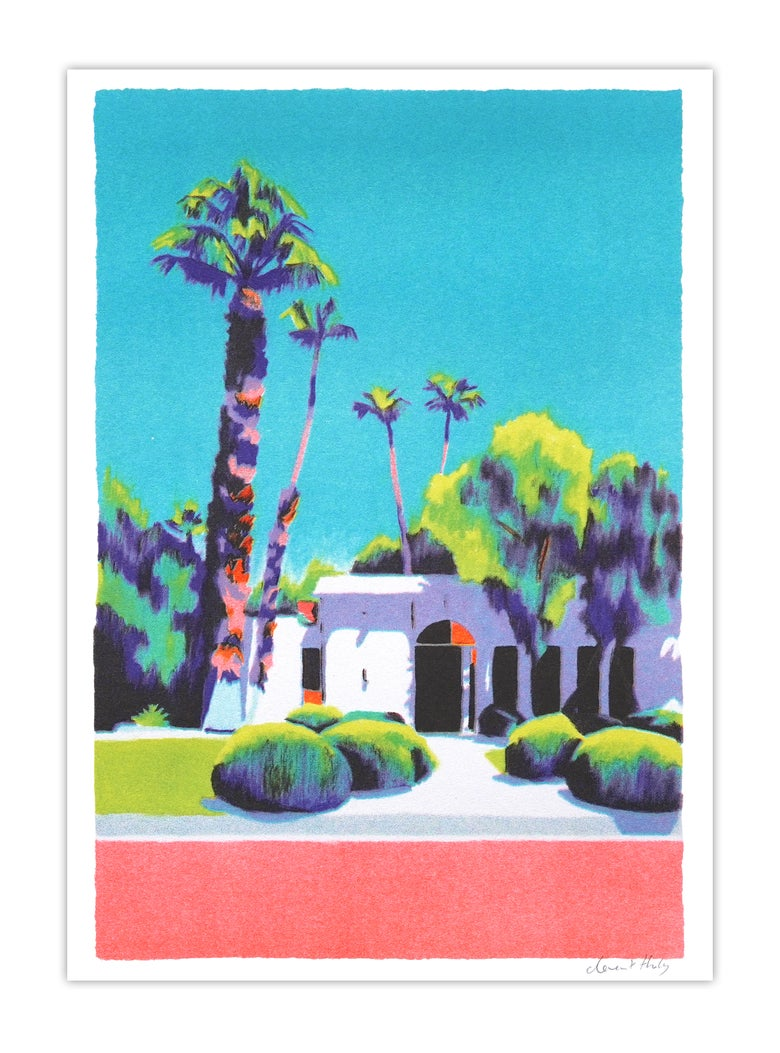 Image of Palm Springs house #1 (risograph, A4)