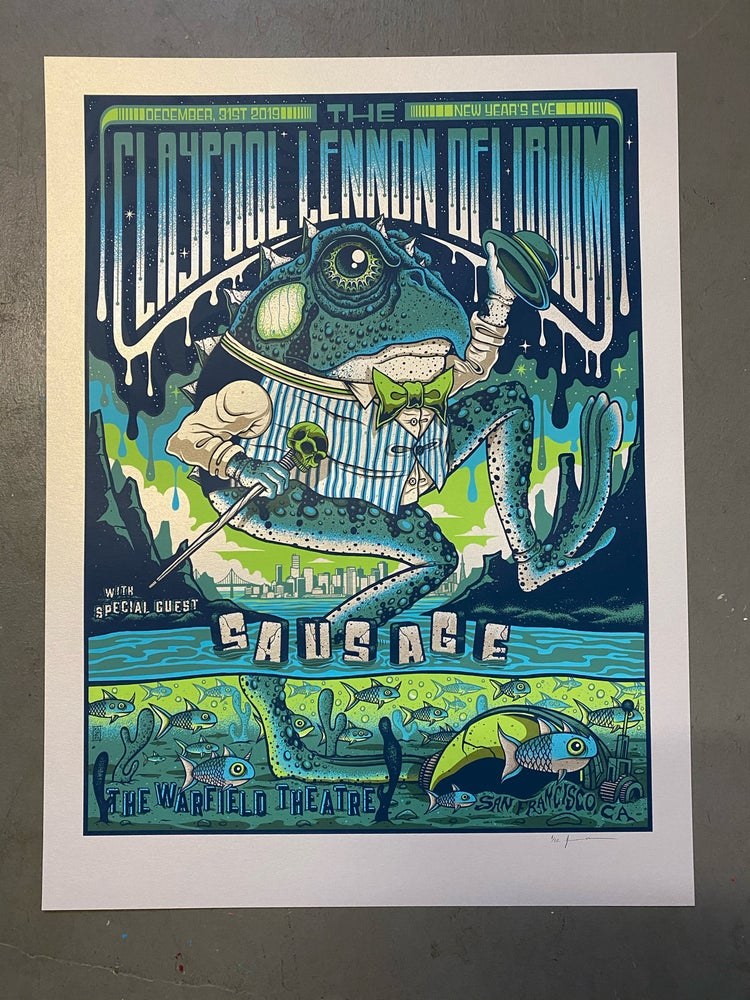 Image of The Claypool Lennon Delirium - NYE 2019 VIP - Silver Pearlescent Variant