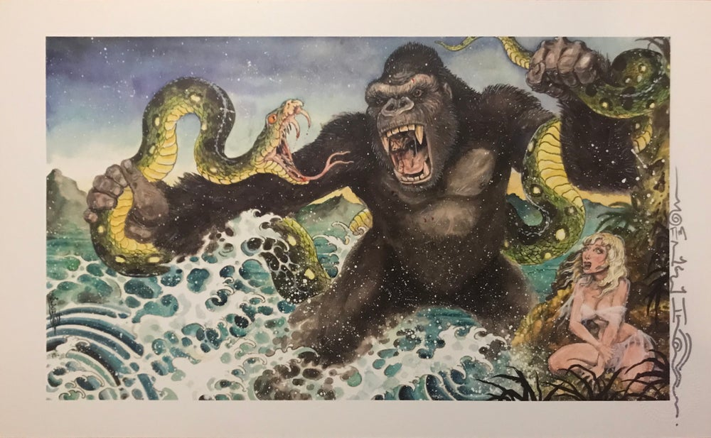 "Image of Tim Lehi ""Mighty Joe"" Signed Poster"