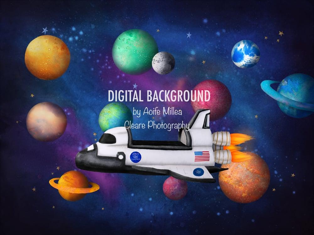 Image of Space Shuttle digital backdrop