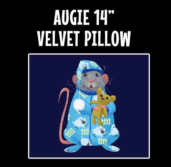"Image of AUGIE Handmade 14"" Velvet Pillow"