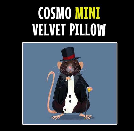 """Image of COSMO Handmade MINI 8"""" Velvet Pillow"""