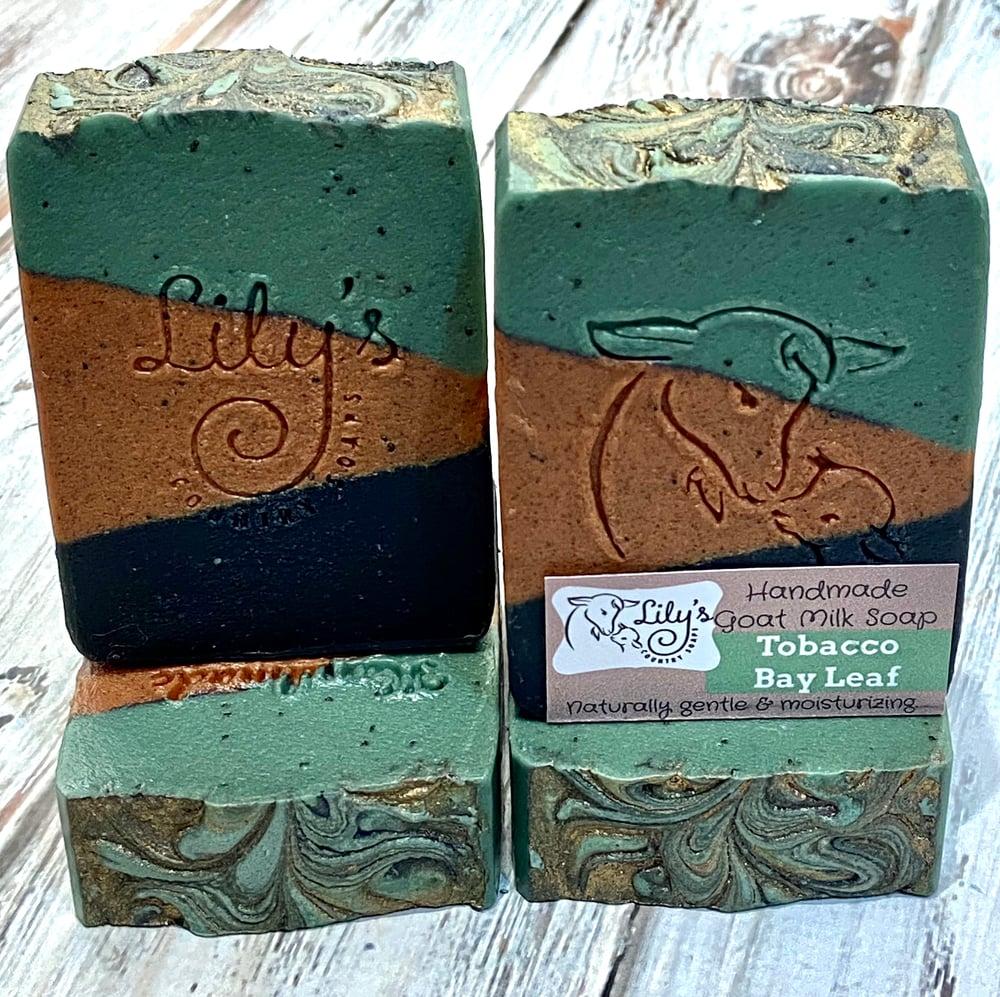 Image of Tobacco Bay Leaf Goat Milk Soap
