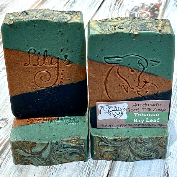 Image of Tobacco Bay Leaf Goat Milk Soap