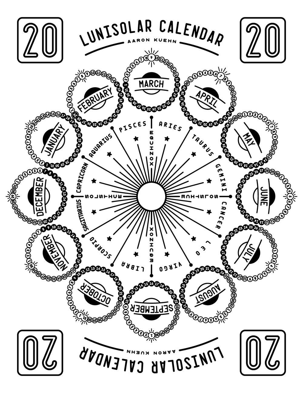 Image of 2020 Lunisolar Calendar - PDF