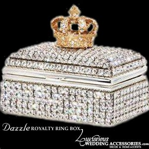 Image of Swarovski Crystal Ring Box Dazzle Royalty