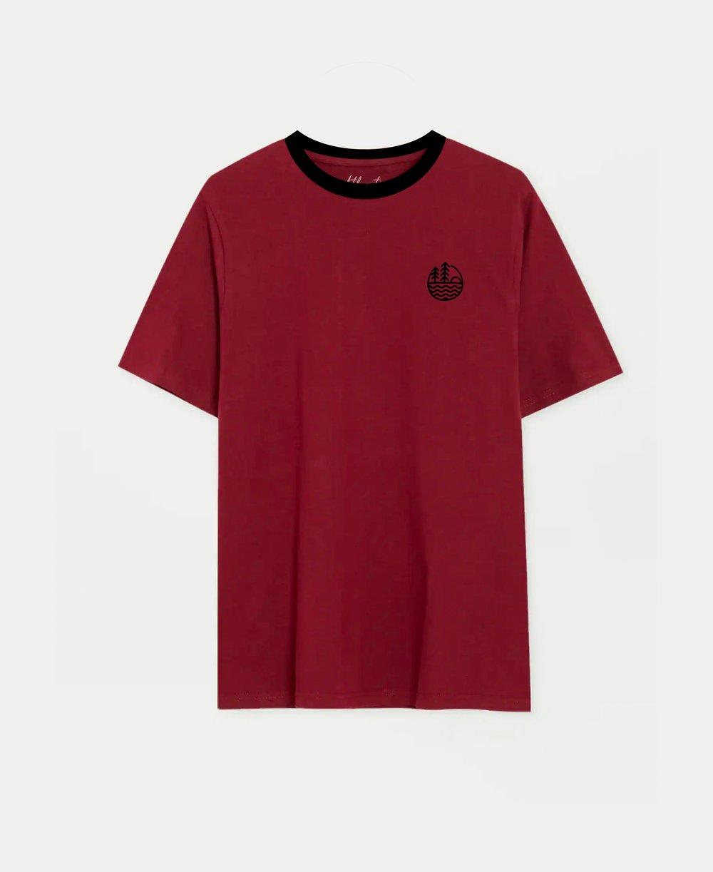 Velvet logo burgundy T-shirt