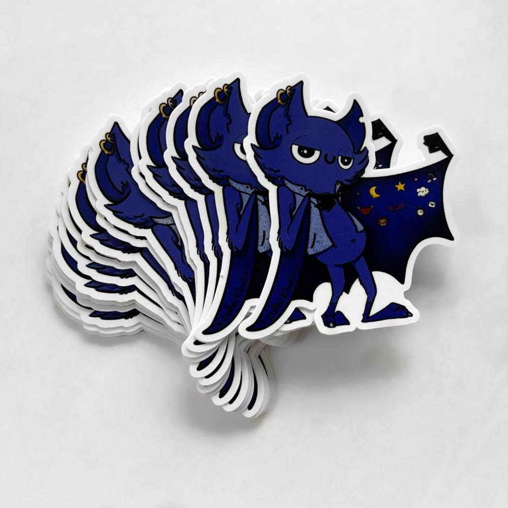 """""""Wanna buy a pin?"""" Sassy Bat Sticker"""