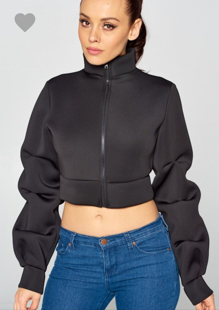 Image of Black or White crop jacket