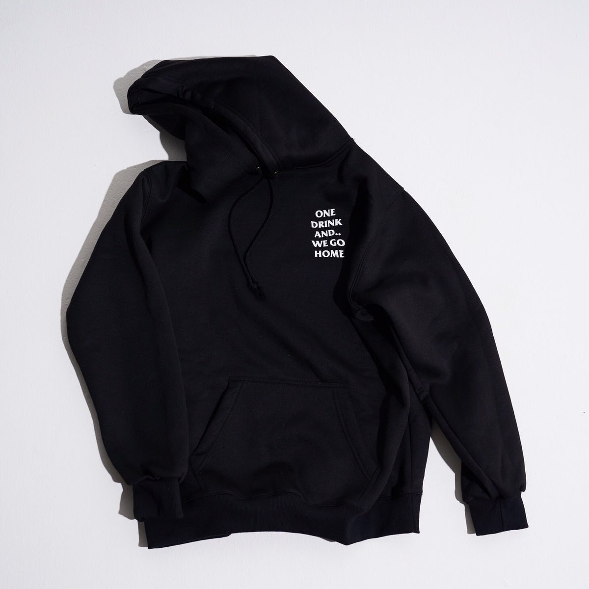 Image of ONEDRINK CLASSIC LOGO HOODIE BLACK/WHITE