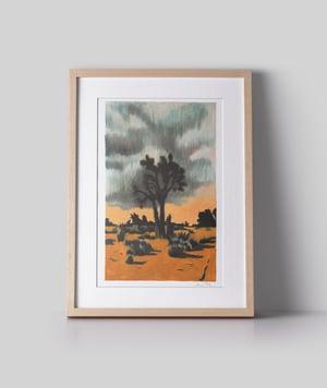 Image of Joshua Tree Storm (risograph, A4)