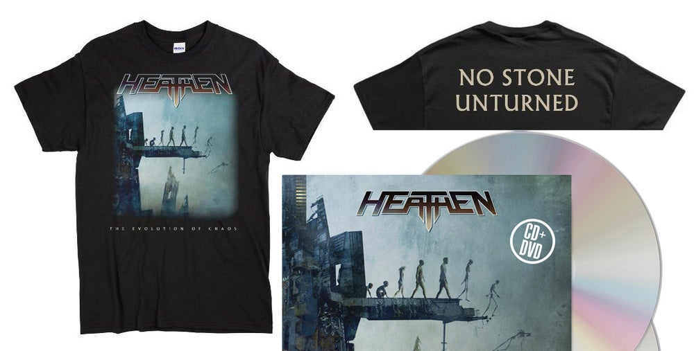 Image of The Evolution Of Chaos CD/DVD (2020 Reissue) + T-Shirt Bundle