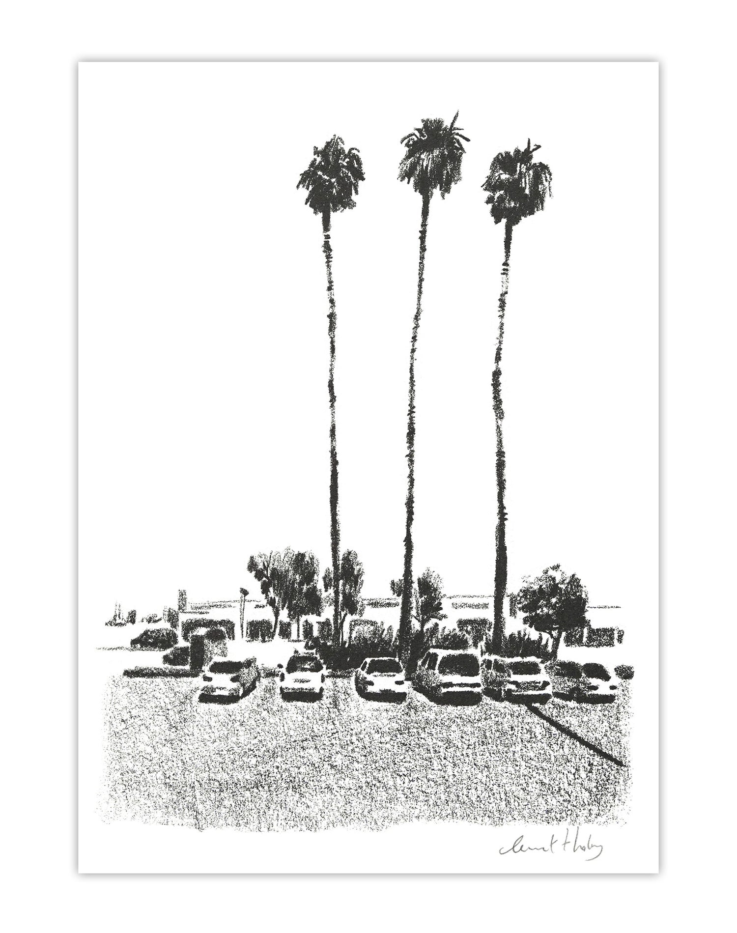 Image of Los Angeles Parking Lot (risograph, A5)
