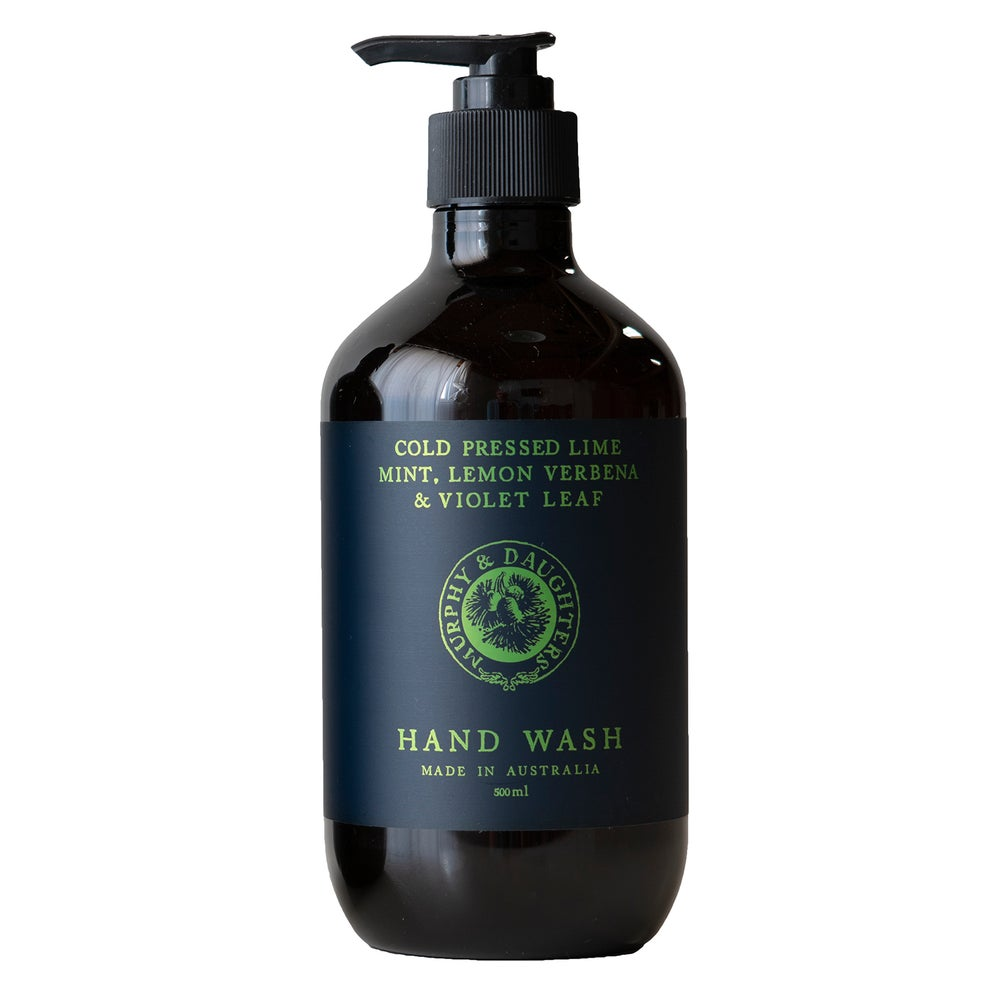 Image of Hand & body wash - Cold Pressed Lime, Mint, Lemon Verbena and Violet Leaves