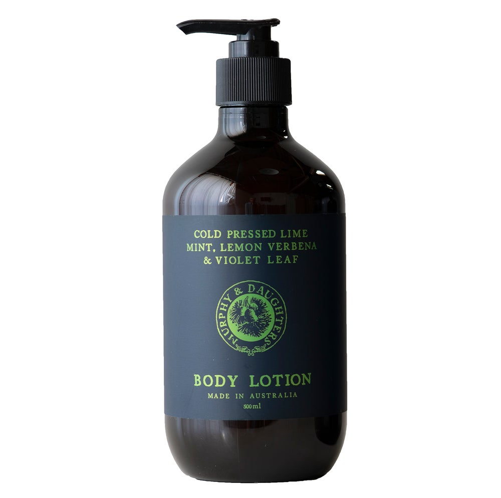 Image of Hand & body lotion - Cold Pressed Lime, Mint, Lemon Verbena and Violet Leaves