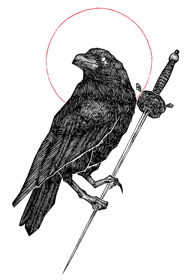 """Image of """"The Raven"""" 8.5""""x11"""" Watercolor Print"""
